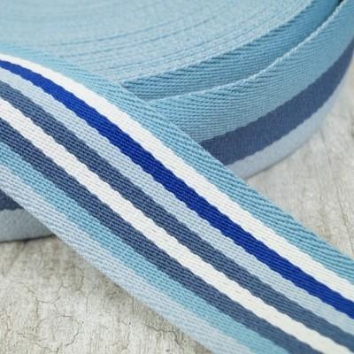 Doubleface Gurtband - 40mm - blau