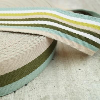 Doubleface Gurtband - 40mm - mint-grün-beige