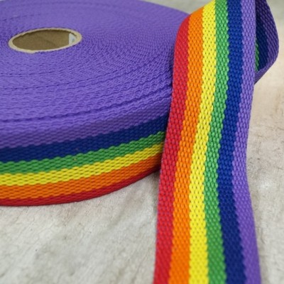 Gurtband 40mm - Regenbogen