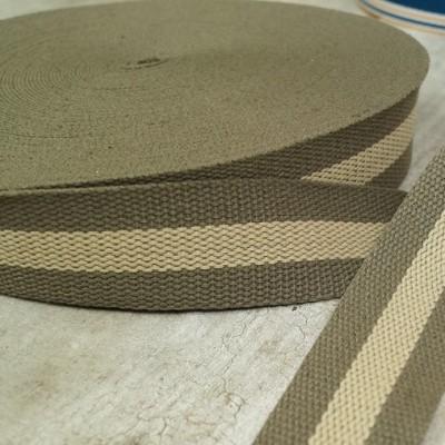 Gurtband 40mm - khaki-beige - zweifarbig