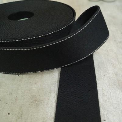 Pinstripe Gurtband 40mm breit - schwarz