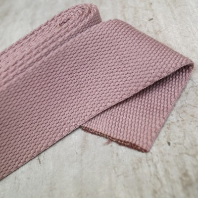 Gurtband Dustyrose - 2m - 40mm breit