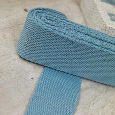 Gurtband Dustyblue - 2m - 40mm breit