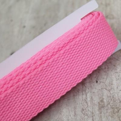 Gurtband neon pink - 2m - 25mm breit