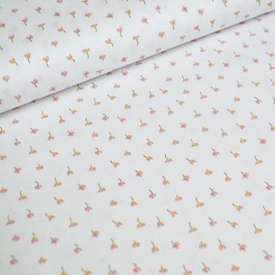Bio-Baumwollstoff little Flowers - weiß