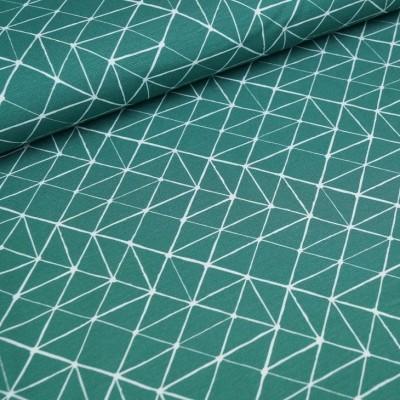 Baumwolljersey Geometrie - darkmint