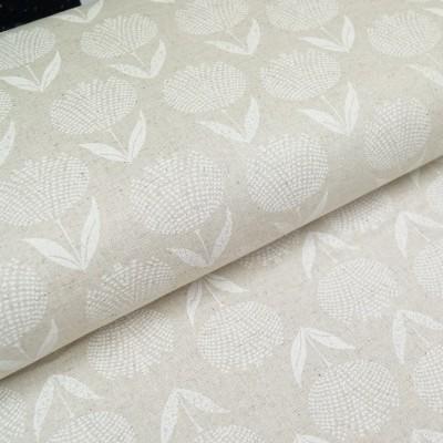 Leinenmix-Canvas Blütenpracht weiß