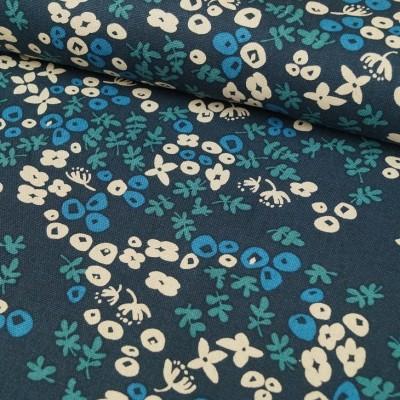 Flowerly Heavy Canvas - von Cosmo - dunkelblau