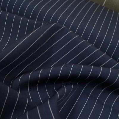Nadelstreifen 100% Wolle dunkelblau