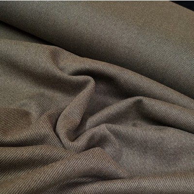 Mantel Wollstoff - Twill - taupe