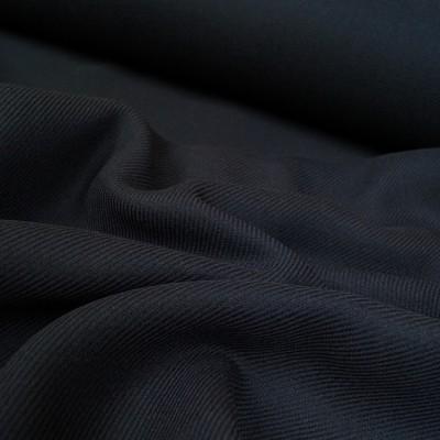 Mantel Wollstoff - Twill - dunkelblau