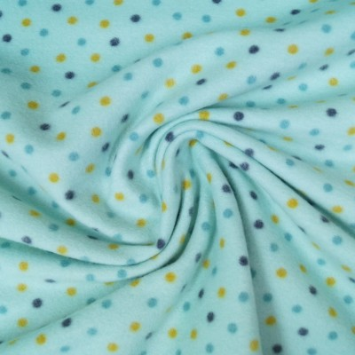 Colour Dots - 100% Baumwollfleece - mint