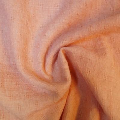 Feiner Webstoff mit Lochmuster - pastel apricot