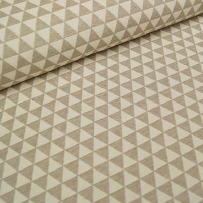 Dreiecke Deko / Taschenstoff in ecru-beige
