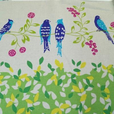 Kokka Echino Vögel gelb-grün