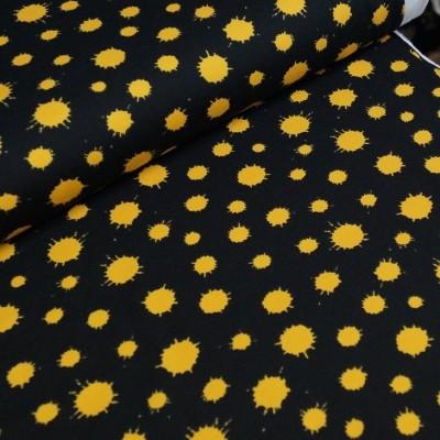 Stenzo Jersey - schwarz mit gelben Farbflecken