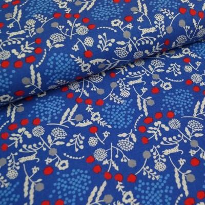 Kokka Echino Little World - blau