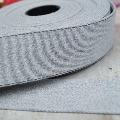 Reststück 1,60m - Pinstripe Gurtband 40mm breit - hellgrau