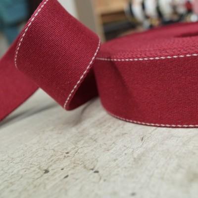 Pinstripe Gurtband 40mm breit - rot
