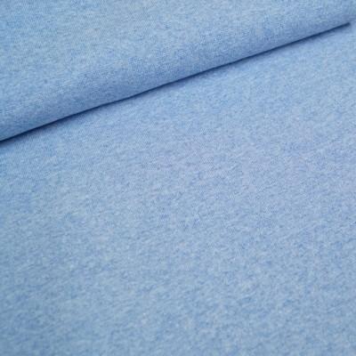 Glattes Bündchen im Schlauch meliert blau