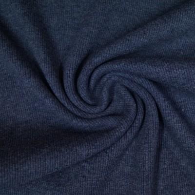 Rib Bündchen dunkelblau meliert im Schlauch