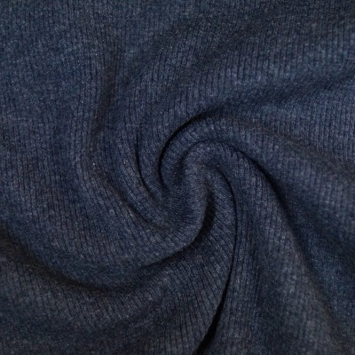 Rib Bündchen meliert dunkelblau im Schlauch