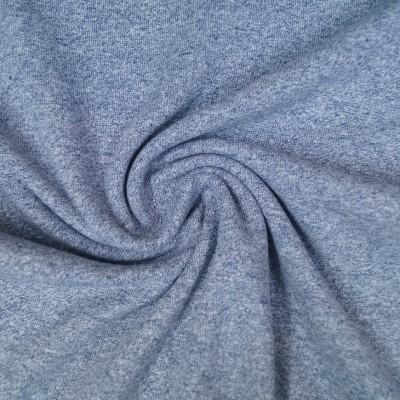 Meliertes Bündchen - helles graublau