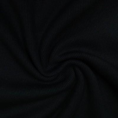 Rib Bündchen Uni schwarz im Schlauch