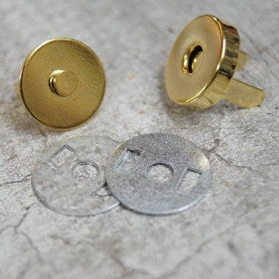 Magnetverschluß Mini 12mm - vergoldet