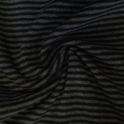 Ringelbündchen schwarz-dunkelgraumelange