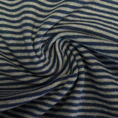 Ringelbündchen jeansblau-graumelange