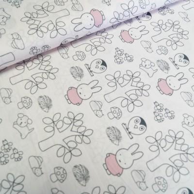 Miffy Baumwollstoff rosé
