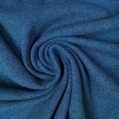 """Hilco """"Bündchen Crop"""" blau - meliert - 140cm breit"""