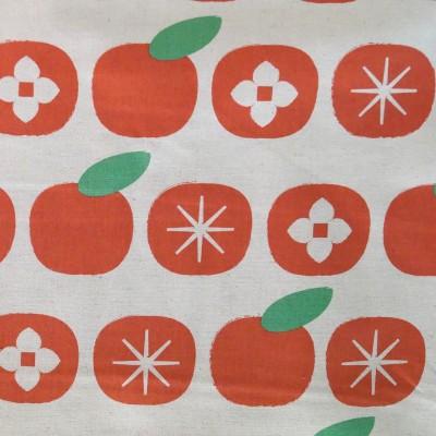 "Kokka ""Charms"" Persimons orange von Ellen Baker - Halbleinen"