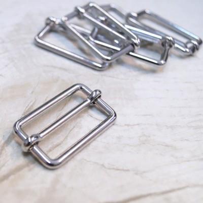 Metallschließe silber glänzend 30mm