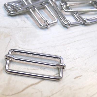 Metallschließe silber glänzend 40mm