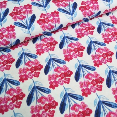 3 Wishes Fabrics - Fixed Floral - Bright Birds