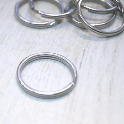 Schlüsselring silber glänzend 25mm