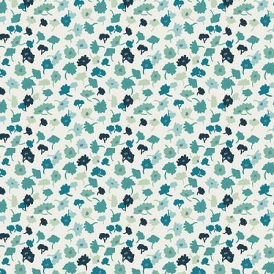 Reststück 70cmx112cm - Art Gallery - Essentials II - Delicate Femme azur