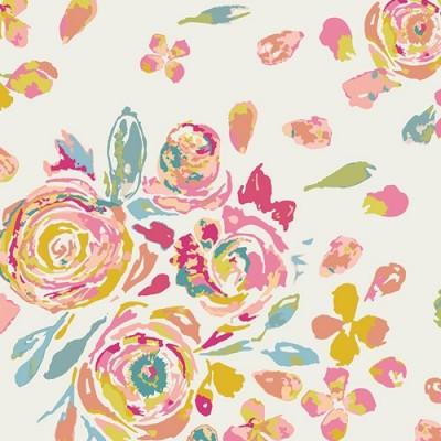 Reststück 77cmx112cm - Art Gallery - Fleet & Flourish - Swifting Flora fond