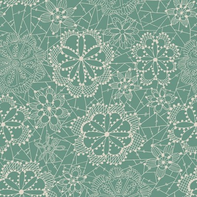 Quarter 54cmx56cm - Art Gallery - Fleet & Flourish - Lace in Bloom sky