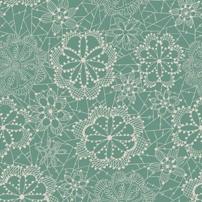 Reststück 1mx1,12m - Art Gallery - Fleet & Flourish - Lace in Bloom sky
