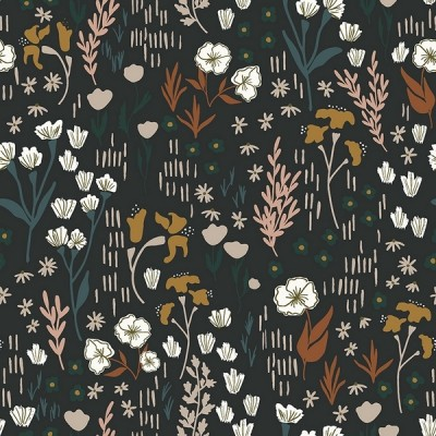 """""""Meadow"""" Rayon, almost black - Cotton and Steel"""