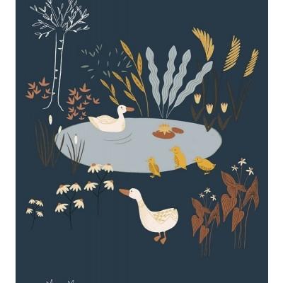 RJR Fabrics - Pond Life - Ducks - lagoon