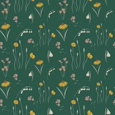 RJR Fabrics - Pond Life - Mini Meadow - grün