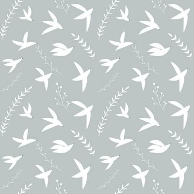 RJR Fabrics - Pond Life - Birds in Flight - sky