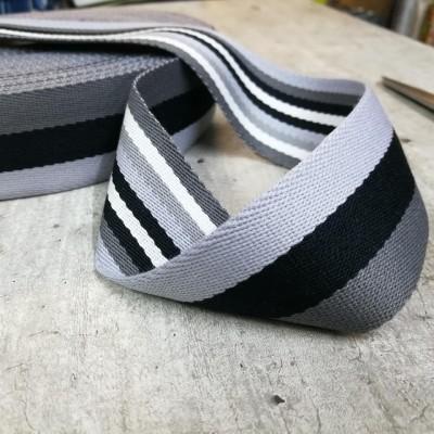 Doubleface Gurtband - 40mm - schwarz