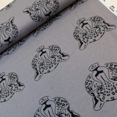 Reststück 100cmx150cm - Leoparden Jersey in weicher Bio Qualität