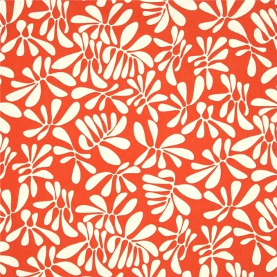 "Windham Fabrics Nod to Mod ""Leaf Play"" coral"