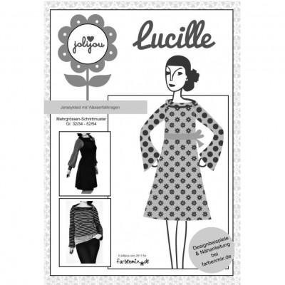 Lucille Farbenmix Jerseykleid Schnittmuster